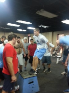 Matty E killing the box jumps.